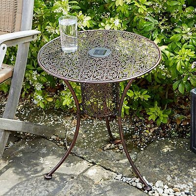 Small Garden Table Patio Conservatory Balcony Round Side Vintage Coffee Bistro