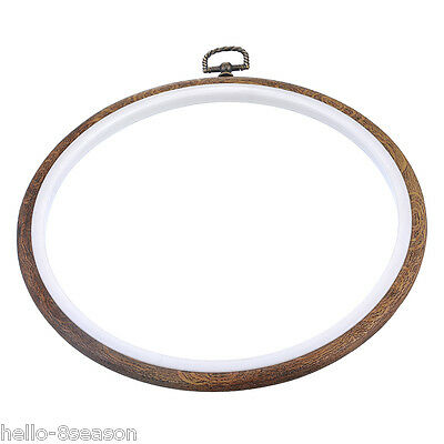 1PC Natural Detachable Embroidery Cross Stitch Frame Hoop Graining 21cm