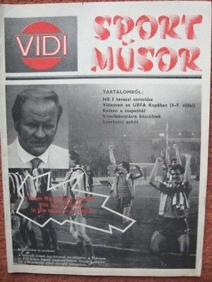 VIDEOTON v MANCHESTER UNITED 84-85 European Cup Winners Cup