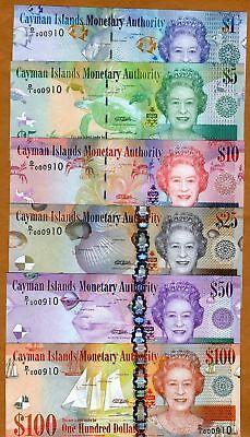 SET, Cayman Islands, $1;5;10;25;50;100, 2010 (2011) Low matching S/Ns, UNC