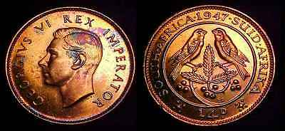 SOUTH AFRICA 1947 1/4 Penny Proof