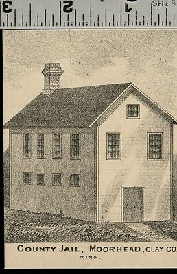 Clay County Jail in Moorhead, Minnesota: Authentic 1874 View (Small)