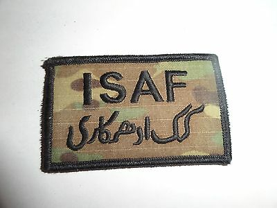 Military Patch Isaf Combat Used International Security Assistance Force Multicam