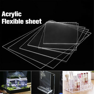 Clear Acrylic Perspex Sheet Crafts Arts Photo Frame Easy Cut 1.2mm Thick AU