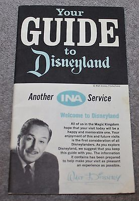 Vintage 1966 You Guide To Disneyland Ina Theme Park Guides Maps Shops