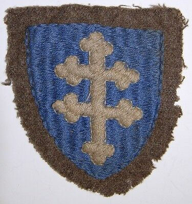 WW1 US Army 79th Division Shoulder Patch - Cross of Lorraine - Off Uniform