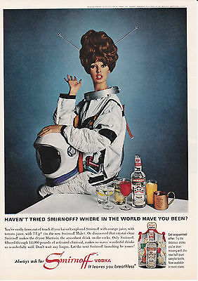 Original Print Ad-1966 Haven't tried SMIRNOFF? Where in the World Have You Been?