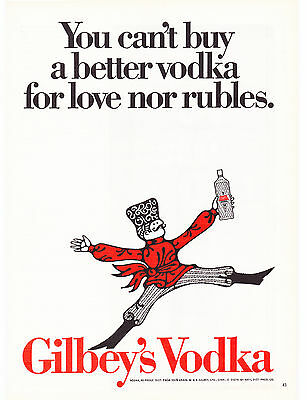Original Print Ad-1968 You can't buy a better GILBEY'S VODKA for love nor Rubles