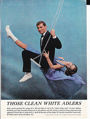 Original Print Ad-1963 THOSE CLEAN WHITE ADLERS-You're getting the swing of it!