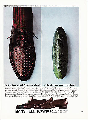 Original Print Ad-1963 how good Townaires look/how cool they feel-SHOE/CUCUMBER