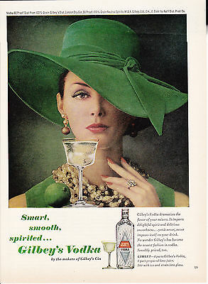 Original Print Ad-1963 Smart, Smooth, Spirited…GILBEY'S VODKA with Gimlet Recipe