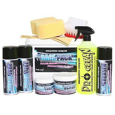Pro Clean Motorcycle / Bike / Motorbike 9 Piece Cleaning / Lube Race Pack / Kit