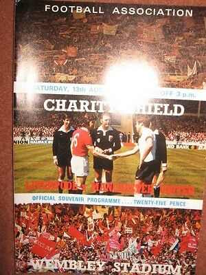 1977 CHARITY SHIELD: LIVERPOOL v MANCHESTER UNITED