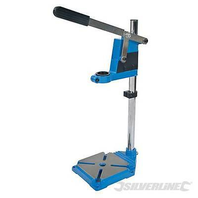 Drill Stand Holder Use With Handheld Electric Drills Cast Iron Base For Safety