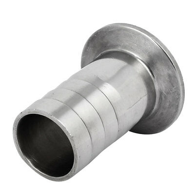 32mm Dia Stainless Steel Sanitary Hose Barb Fitting to 1.5-inch Tri Clamp Clover