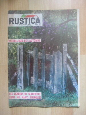 RUSTICA n° 37 / 1961 - CONSERVATION OEUFS -PINTADE - PÊCHER - PREPARATION OLIVES