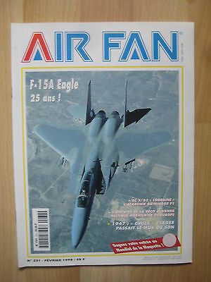 AIR FAN n° 231 - F15 EAGLE - CHUCK YEAGER EC 3/33 LORRAINE MIRAGE F1