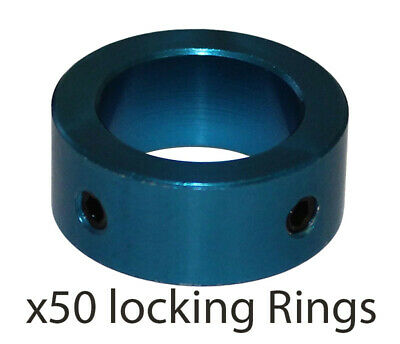 50 x 20mm Steering Column Safety Locking Ring & Screws in Blue