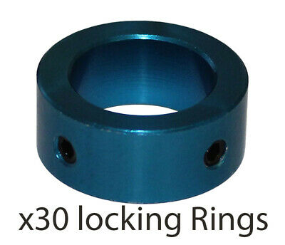 30 x 20mm Steering Column Safety Locking Ring & Screws in Blue