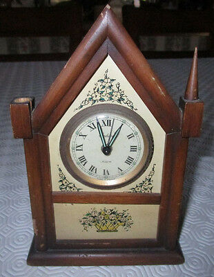 Vintage Endura France Alarm Clock - Steeple - Glow in the Dark Hands - AS IS
