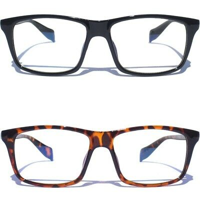 CLEAR LENS GLASSES Retro Classic retro Vintage Style Hipster Square Design New