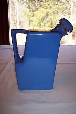 Oxford Ware Westinghouse Blue Refrigerator Water/Milk Pitcher w/ Stopper - USA