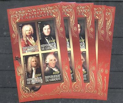 (937821) 5x Composer, G.F.Händel, Small lot, Haydn J., Private / local issue