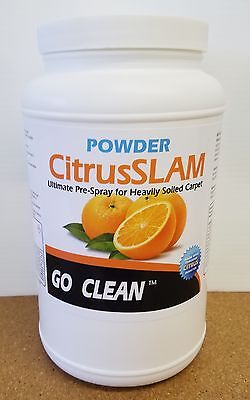 Citrus Slam Powder by GoCLean carpet cleaning pre spray - yields 46 gallons
