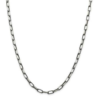 """.925 Sterling Silver 4.8mm Antiqued Fancy Link Chain Necklace 8.5"""" - 24"""""""