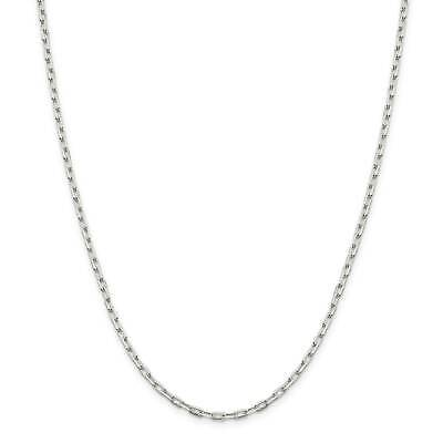 ".925 Sterling Silver 2.75mm Fancy Link Chain Necklace 7"" - 30"""