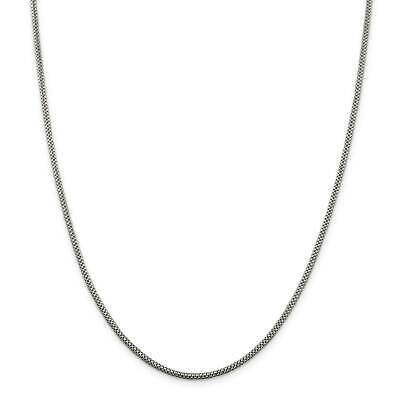 ".925 Sterling Silver 2mm Fancy Polished Chain Necklace 16"" - 24"""