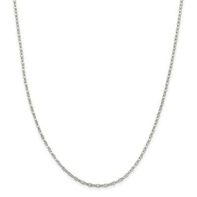 """.925 Sterling Silver 2.25mm Fancy Wave Link Chain Necklace 16"""" - 24"""""""