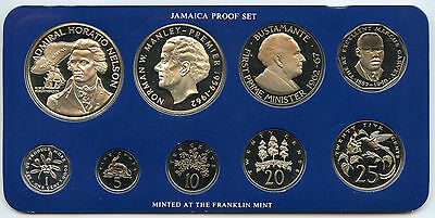 Jamaica 1976 Proof Coin Set - Complete - Marcus Garvey Bustamante Nelson - AJ923
