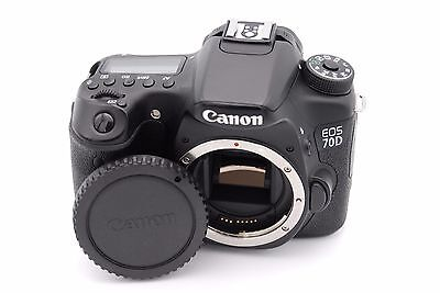 Canon EOS 70D 20.2MP Digital SLR Camera - Black (Body Only) - Shutter Count:3250