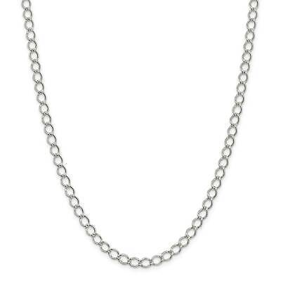 """.925 Sterling Silver 5.75mm Fancy Polished Curb Link Chain Necklace 7"""" - 24"""""""