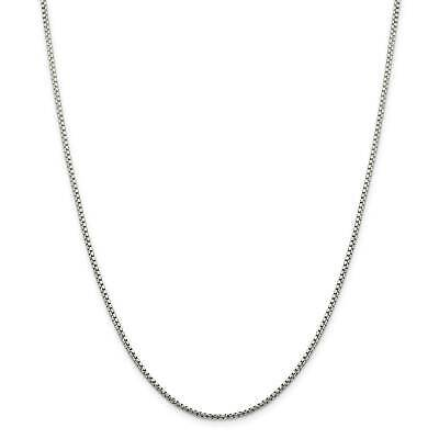 """.925 Sterling Silver 1.75mm Round Diamond-Cut Fancy Box Chain Necklace 16"""" - 30"""""""