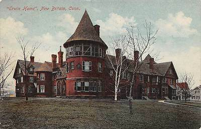 "NEW BRITAIN, CT ~ ""ERWIN HOME"" ~ AUGUST SCHMELZER CO. PUB ~ used c. 1910s"