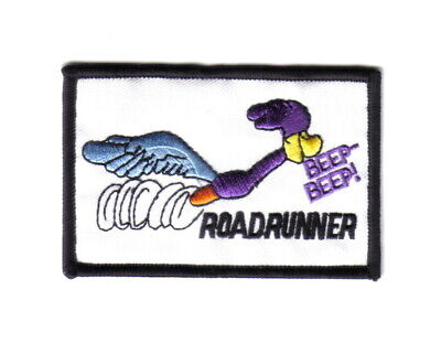 Looney Tunes Road Runner Running Figure & Name Beep-Beep! Embroidered Patch NEW
