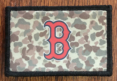 Boston Red Sox USA FLAG Morale Patch Tactical Military Army Baseball Hook