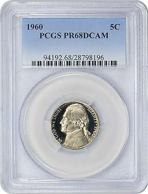 1960 Jefferson Nickel PR68DCAM PCGS Proof 68 Deep Cameo