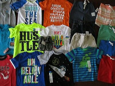 NWT'S Boys Size 2T Summer Lot of  CLOTHES & OUTFITS TCP Old Navy Okie Dokie