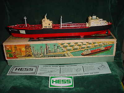 1966 Collectible  Fathers Day  Hess Voyager Ship Boat 1966 Tanker Truck Toys