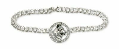 German Shepherd Bracelet Jewelry Sterling Silver Handmade Dog Bracelet GS14-BR