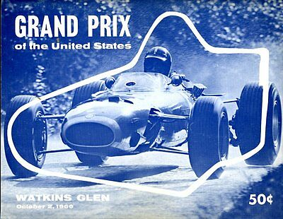 1966 Jim Clark Lotus 43 BRM Wins Watkins Glen US Grand Prix Race Program