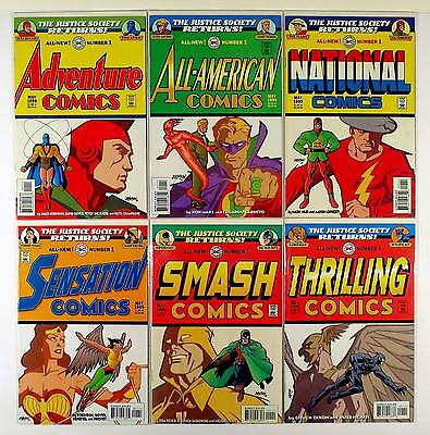 The Justice Society Returns Dc Lot Of 6 Comics #1 Adventure All-American (Vf/nm)