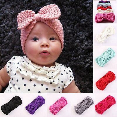 Turban Ear Winter Warm Headband Crochet Knitted Hairband Headwrap  Baby Girl Boy