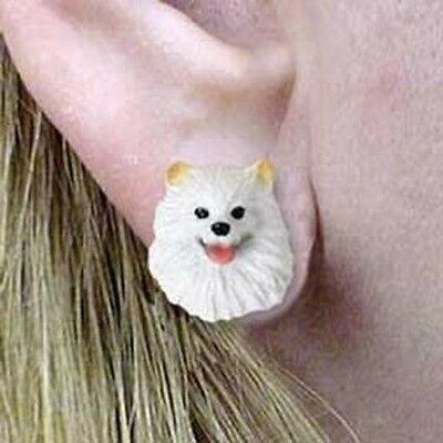 Post Style Finding AMERICAN ESKIMO Dog Post Earrings CLEARANCE SALE