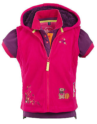 TOGGI SPARKLER childs FLEECE GILET / BODYWARMER / BODY WARMER  pink   7-8 years
