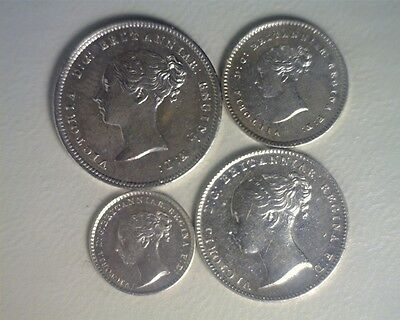 ICOIN - Great Britain 1840 Queen Victoria Young Head Maundy Set