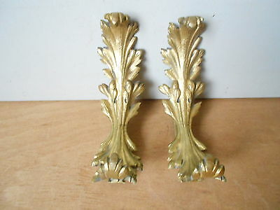 PAIR Antique french Bronze curtain Tiebacks